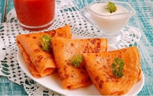 Рецепт блинов на томатном соке