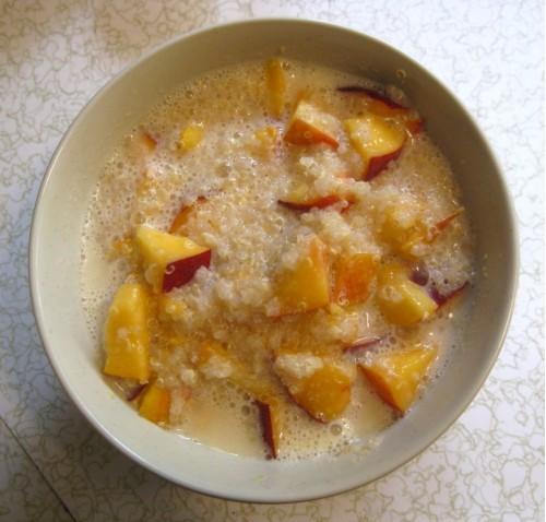 Рецепт каши с персиками