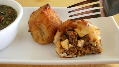 Рецепт колумбийского фаршированного картофеля