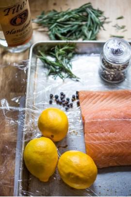 Ингредиенты для малосольного лосося