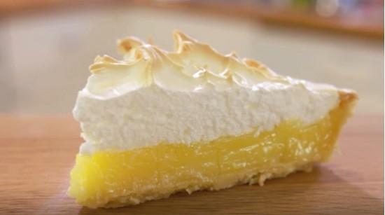 Итальянский лимонный пирог с меренгой