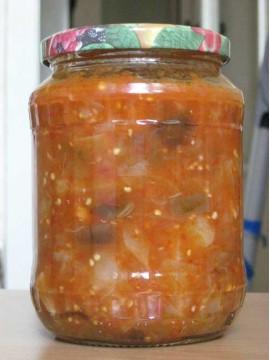 Салат из баклажанов и перцев