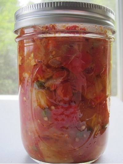 Баклажаны с перцем в томатном соусе
