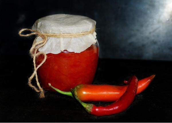 Конфитюр из болгарского перца и перца чили