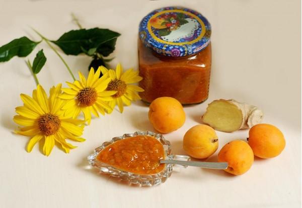 Соус из абрикосов и корня имбиря на зиму