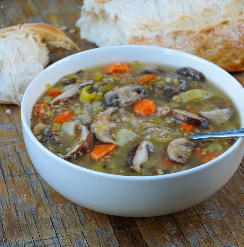 грибной суп с филе