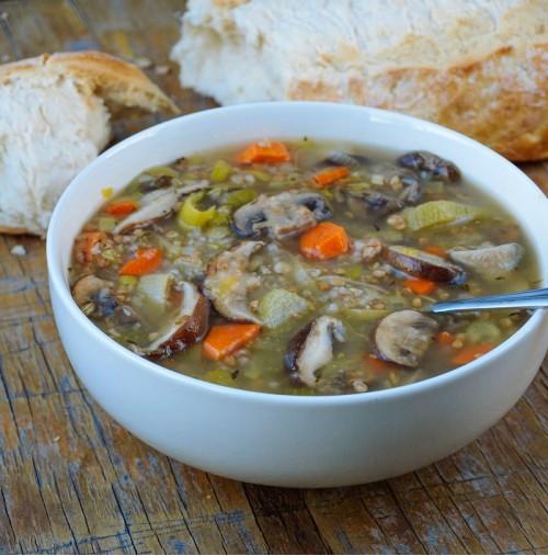 Рецепт грибного супа с гречкой