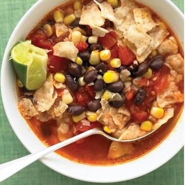 Мексиканский суп с начос рецепт