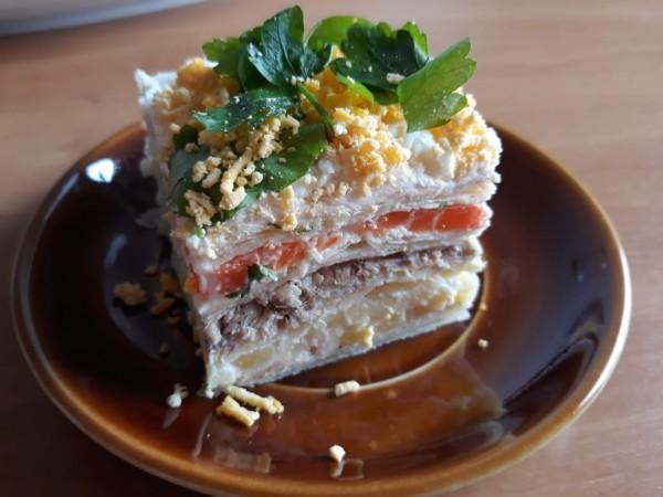 Закусочный торт Мимоза