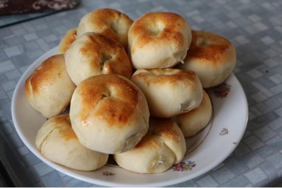Кныши с картофелем и жареным луком