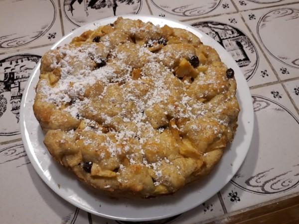 Яблочный сметанный пирог по-еврейски