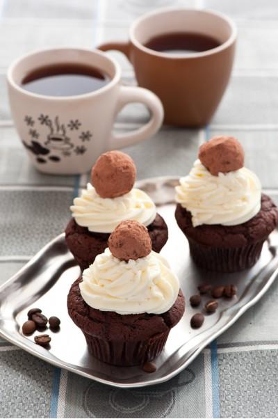 Шоколадные маффины с кофе
