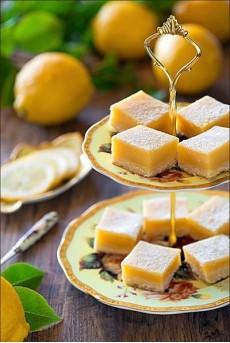 Печенье лимонные квадратики